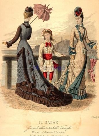 1877 Il Bazar Source - http://oldrags.tumblr.com/